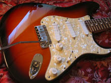 Xhefris guitars fender stratocaster plus deluxe this is a is a fine example of a 1996 sunburst ash stratocaster plus deluxe with all the deluxe features this is a 1996 anniversary model freerunsca Choice Image