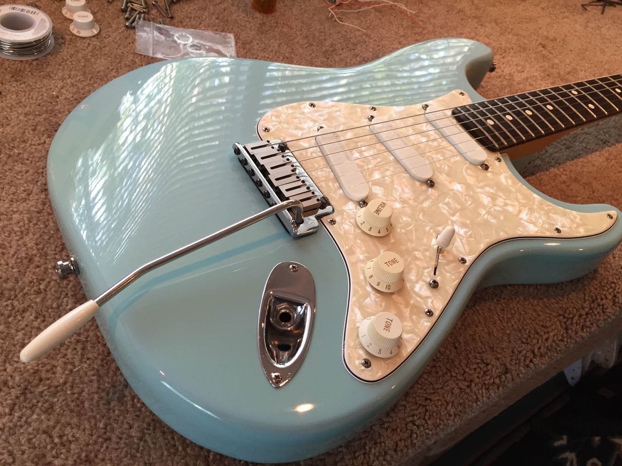 Xhefris Guitars Fender Stratocaster Plus Series Wiring A Fitting Pickups And Volume Tone